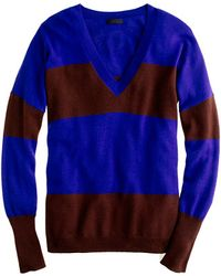 J.Crew Collection Cashmere Boyfriend Sweater in Colorblock - Lyst