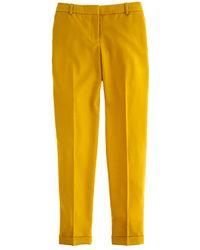 J.Crew Café Capri in Wool yellow - Lyst