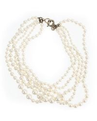 J.Crew Pearl Twisted Hammock Necklace white - Lyst
