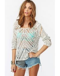 Nasty Gal Chelsea Knit Cream - Lyst