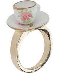 Topshop Tea Cup Ring - Lyst