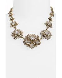 Cara Accessories Floral Statement Collar Necklace white - Lyst
