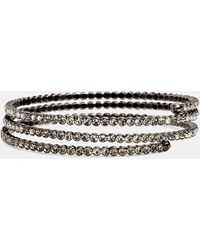 Cara Accessories Crystal Coil Bracelet - Lyst