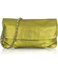 Elie Tahari - Emory Metallic Leather Clutch - Lyst