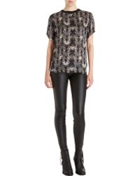 Theyskens' Theory Igate Print Tee - Lyst
