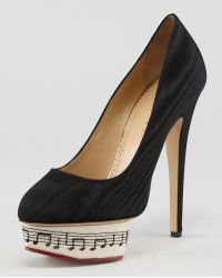 Charlotte Olympia Dance with Me Dolly Symphony Island Platform Pump - Lyst