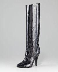 Maison Margiela Nail Polish Effect Knee Boot - Lyst