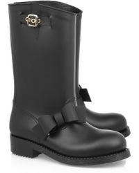 RED Valentino - PVC Bow Detail Rain Boot - Lyst
