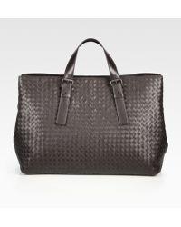 Bottega Veneta East/West Leather Tote - Lyst