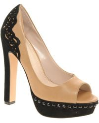 KG by Kurt Geiger Kg Honeysuckle Lace Trim Platform Court Shoes - Lyst