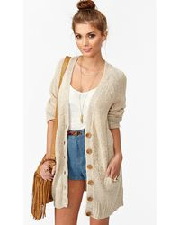 Nasty Gal Sands Of Time Cardi - Lyst