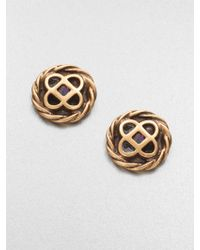 Oscar de la Renta Mosaico Stud Earrings - Lyst