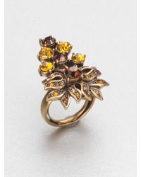 Oscar de la Renta Faceted Spray Ring - Lyst