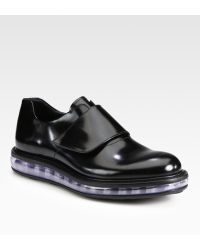 Prada Spazzolato Leather Loafer - Lyst