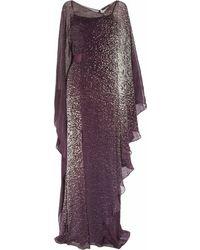 Amanda Wakeley Printed Silkgeorgette Gown - Lyst