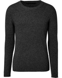Dear Cashmere - Black Crew Neck Pullover - Lyst