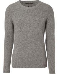 Dear Cashmere - Grey Crew Neck Pullover - Lyst