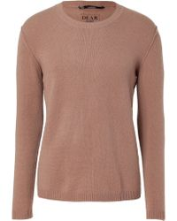 Dear Cashmere - Taupe Crew Neck Pullover - Lyst