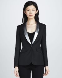 Elizabeth And James Rex Metallictrim Blazer - Lyst