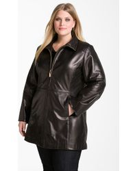 Ellen Tracy Quilted Leather Jacket - Lyst