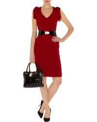 Karen Millen 40s Draped Dress - Lyst