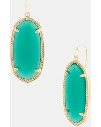 Kendra Scott Elle Small Oval Earrings - Lyst