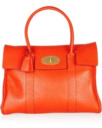Mulberry Bayswater Textured Leather Bag - Lyst