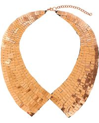 Topshop Sequin Peter Pan Necklace - Lyst