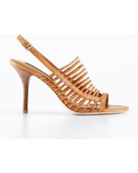 Ann Taylor Nadine Leather Strappy Sandals - Lyst