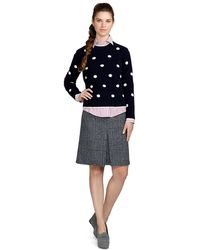 Brooks Brothers Lambswool Polka Dot Sweater - Lyst