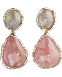 Lucifer Vir Honestus - Sapphire Diamond Double Drop Earrings - Lyst