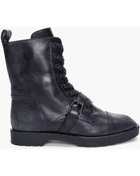 Alexander Wang Black Daria Combat Boots - Lyst