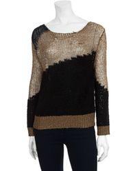 Alice + Olivia Novelty Stretch Crewneck Sweater - Lyst