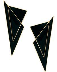 Asos Triangle Stud Earrings - Lyst