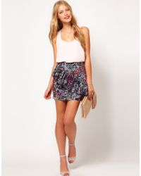 ASOS Collection Asos Premium Ruffle Mini Skirt - Lyst