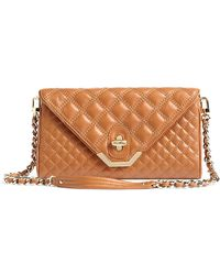 Brooks Brothers Quilted Lambskin Clutch - Lyst