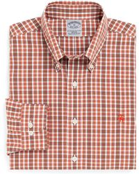 Brooks Brothers Noniron Slim Fit Tonal Double Tattersall Sport Shirt - Lyst