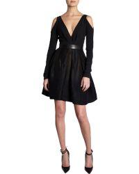 J. Mendel Cut Out Dress black - Lyst
