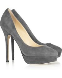 Jimmy Choo Cosmic Suede Pumps - Lyst