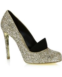 Stella McCartney Bon Bon Glitter Shoe gold - Lyst