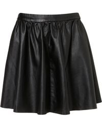 Topshop Black Full Skater Skirt - Lyst