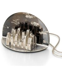 Arosha Luigi Taglia Night Skyline Diamonds One Of A Kind Pendant - Lyst