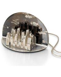 Arosha Luigi Taglia Night Skyline Diamonds One Of A Kind Pendant silver - Lyst