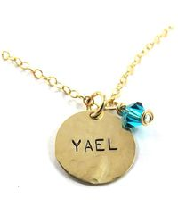 Sari Glassman Personalized Necklace 4 Names with Birthstones - Lyst