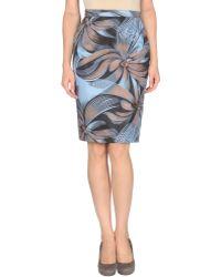 Vionnet Knee Length Skirt blue - Lyst