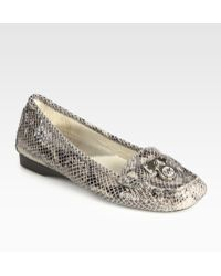 MICHAEL Michael Kors Hamilton Snake-embossed Leather and Suede Loafers - Lyst