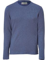 Closed Blue Crew Neck Sweatshirt - Lyst