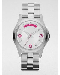 Marc By Marc Jacobs Stainless Steel Watchpink Markers - Lyst