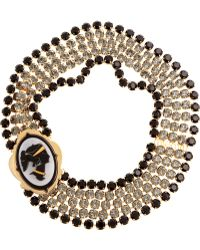 Miu Miu Crystal Cameo Necklace - Lyst