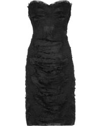 Dolce & Gabbana Strapless Lace and Tulle Dress - Lyst